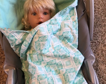 Car seat blanket turquoise