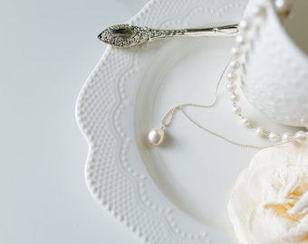 Layering Pearl Necklace