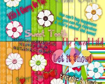 Summer Sweets Digital Scrapbook Kit