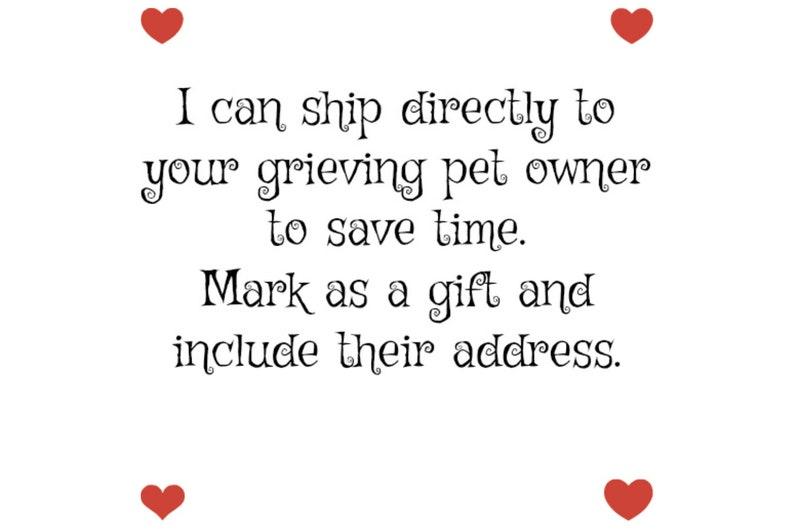 5x7 Dog in Heart Custom Dog Memorial Gift