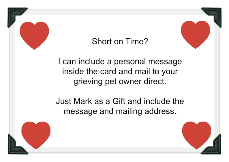 Dog Sympathy Card Death of Dog Dog Loss Card