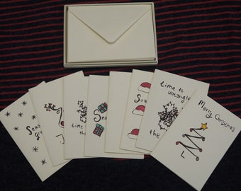 Set of assorted Christmas cards