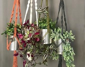 Beginners' Macrame Plant Hanger Pattern • Modern Macrame  • Hard Copy Pattern • DIY