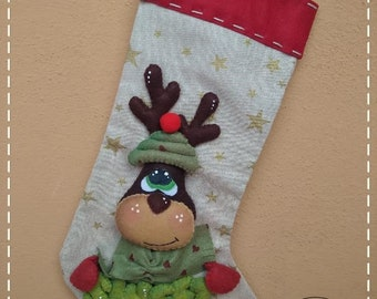 Befana Christmas ValecreazioniStore SGD 827 Candy Stocking Pattern