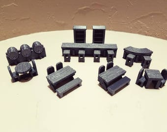 Large Tavern Set - 3D Printed 28mm Scale