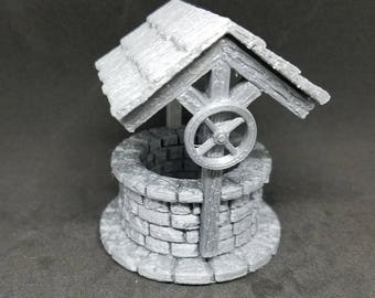 Wishing Well - 3D Printed 28mm Scale