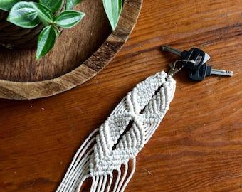 Door keys, macramé, wedding gift, Bohemian chic.