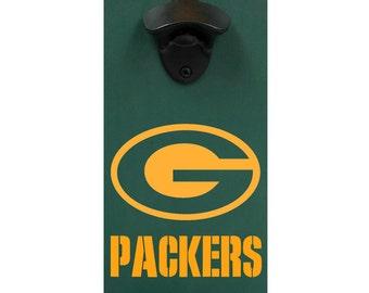 Packers, Wall Mounted Bottle Opener