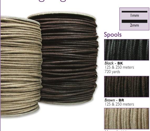pack size options 2mm Wax Cotton Cord  for Shamballa Jewellery Macrame