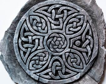 Celtic Design Wall Art, Round Celtic Knot Design, Scottish Gift, Pictish Art, Handmade in Scotland, Celtic Cross, Bessay, Shetland Islands