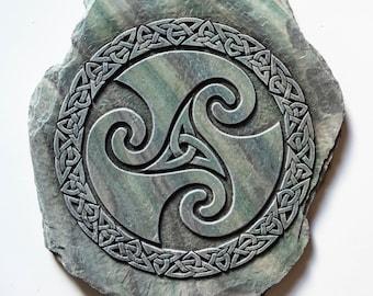 Celtic Spiral Wall Plaque, Triskele Design, Celtic Wall Art, Scottish Gift, Celtic Home Decor, Handmade in Scotland, Andrew Mcgavin Designs