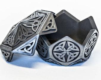 Small Hexagon Celtic Treasure Box | Geometric Box | Trinket Box