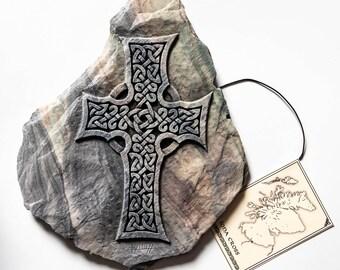 Iona Cross Wall Plaque, Celtic Cross Wall Art, Scottish Gift, Celtic Art, Celtic Home Decor, Handmade in Scotland, Andrew McGavin Designs