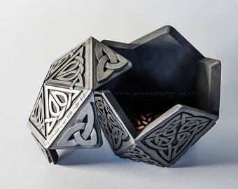 Large Pentagon Celtic Treasure Box | Geometric Design Box | Trinket Box | Scottish Gift