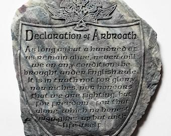 Declaration of Arbroath Wall Plaque, Scottish Gift, Scottish Home Decor, Handmade in Scotland, Scottish Independance, Andrew McGavin Designs
