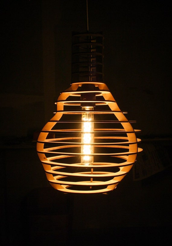 Drawing Of The Lamp For Woodworking Diy Night Light Vector Plan