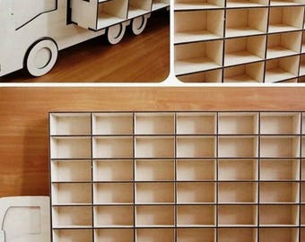 Drawing of a shelf for machines - Do it yourself - laser cutting - DIY