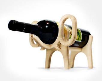 For woodwork wine rack animal friends :elephant - diy (digital download)