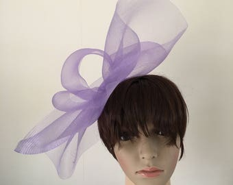 d87fff98197 lilac light purple feather fascinator millinery burlesque headband wedding  hat hair piece