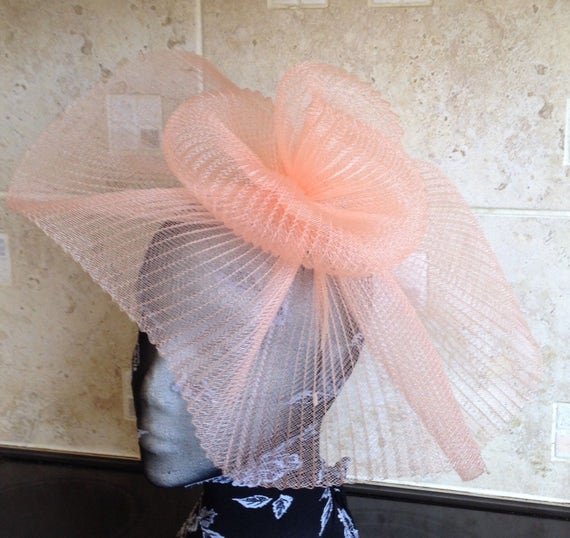 bright yellow fascinator millinery burlesque wedding hat ascot race bridal