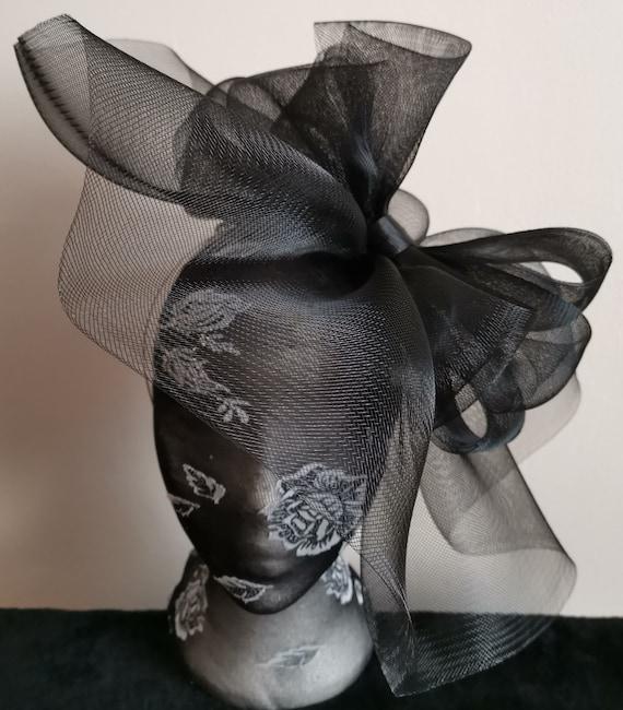dark brown fascinator millinery burlesque headband wedding hat hair piece