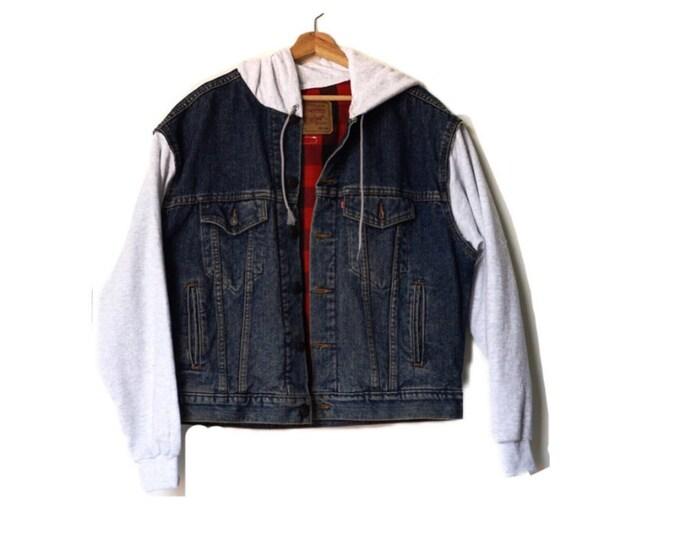 men's Levi's vintage denim + Champion hoodie Jacket