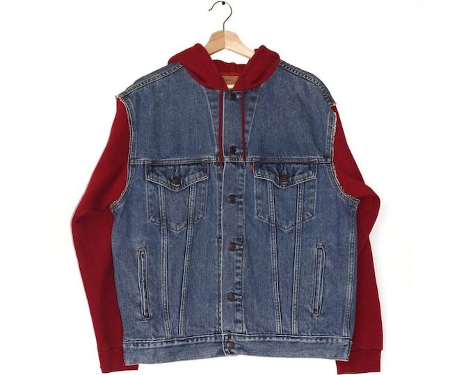men's Levi's vintage denim + hoodie jacket