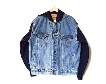 men's Levi's vintage denim + hoodie jacket