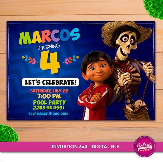 Invitación De Coco Cumpleaños De Coco Invitar A Coco Partido De Coco Invitación Cumpleaños Coco Imprimible Fiesta De Cumpleaños De Coco