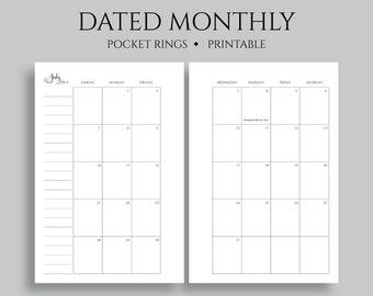 picture regarding Printable Pocket Calendars named July 2019 Dec 2020 Dated Month to month Calendar Printable Planner