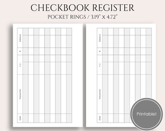 checkbook register etsy