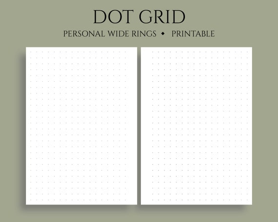 photograph relating to Bullet Journal Dot Grid Printable known as Dot Grid Printable Planner Inserts, Dotted Filler Paper, Bullet Magazine Web pages ~ Individual Vast Rings / 4.75\