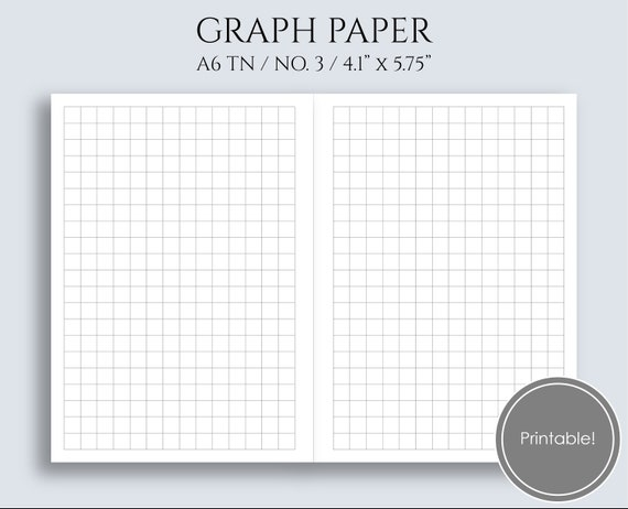 Graph Paper Printable Planner Inserts Printable Grid Filler