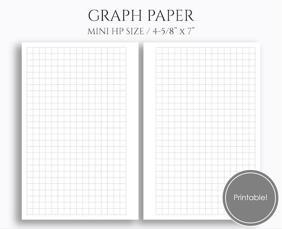 graph paper printable planner inserts printable grid filler etsy