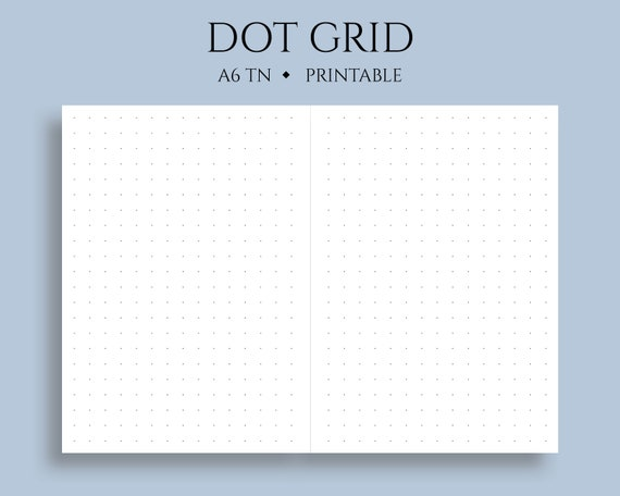 It is a photo of Bullet Journal Dot Grid Printable in isometric