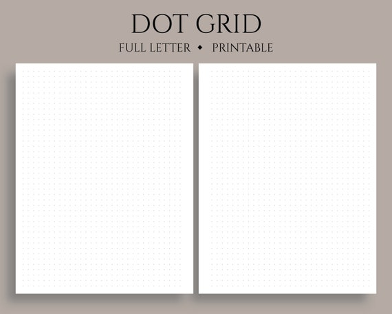graphic about Dot Grid Printable identified as Dot Grid Printable Planner Inserts, Dotted Filler Paper, Bullet Magazine Internet pages ~ Comprehensive Letter / 8.5\