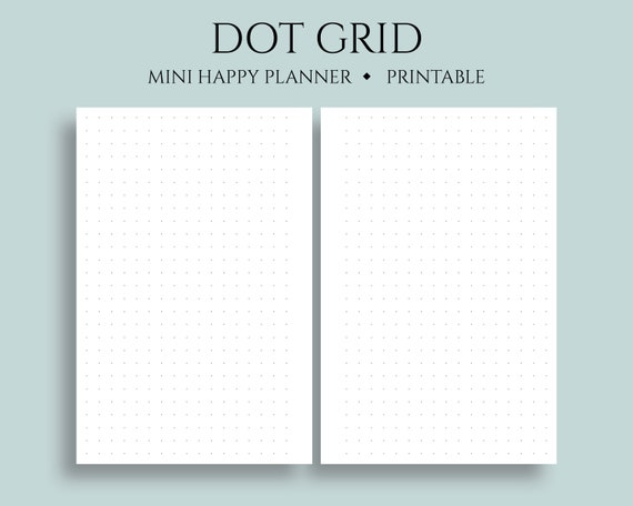 photograph regarding Bullet Journal Dot Grid Printable titled Dot Grid Printable Planner Inserts, Dotted Filler Paper, Bullet Magazine Webpages ~ Mini Pleased Planner / 4.6\