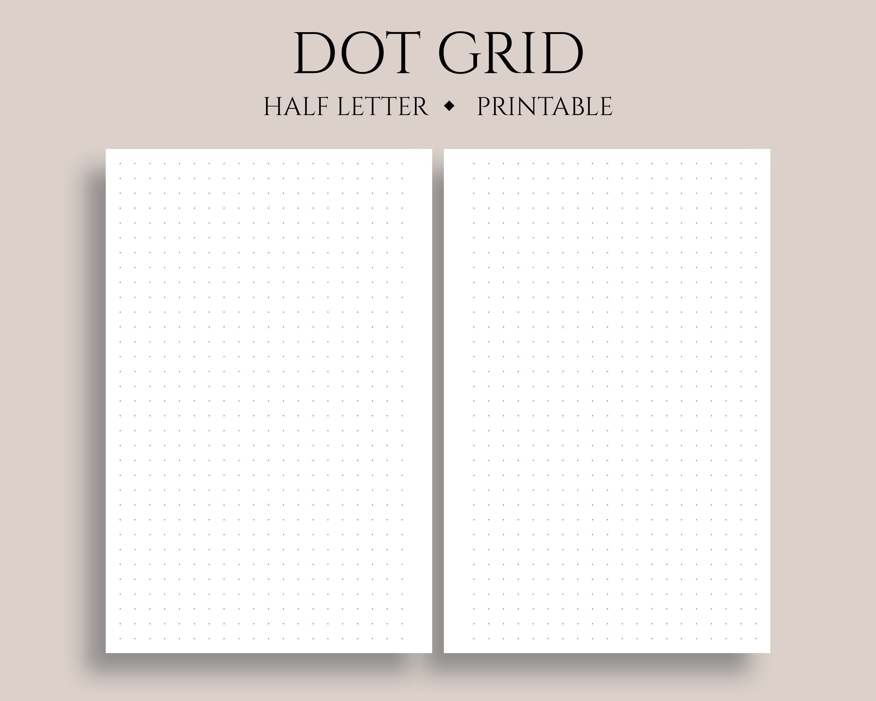 It's just a graphic of Candid Dot Grid Printable