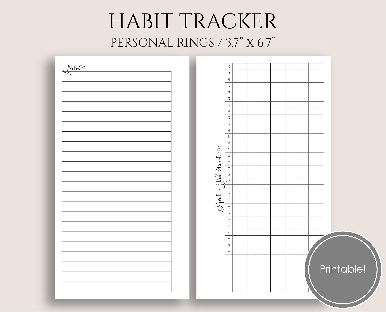 Monthly Habit Tracker Printable Planner Inserts Task   Etsy