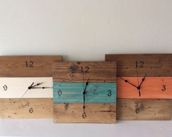 Clock  made from reclaimed wood