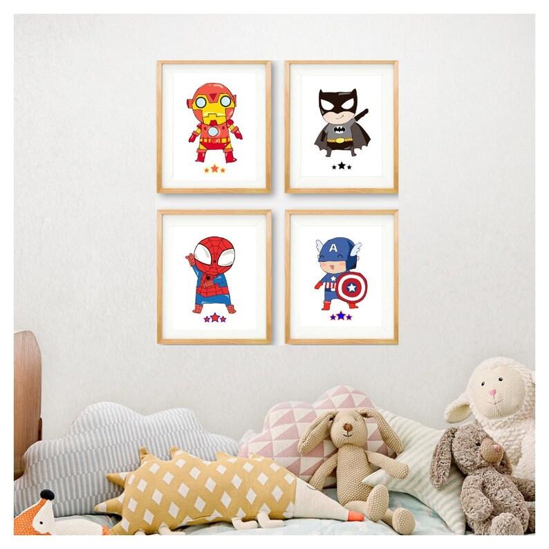 Superhero Print Superheroes Wall Art Super Hero Prints image 0