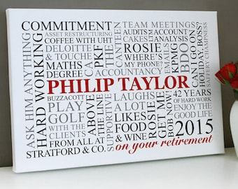 retirement word art etsy