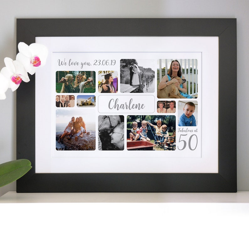 Personalised birthday photo collage print