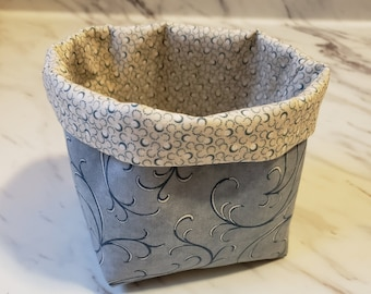 Small Fabric Thread Basket, ORT Basket, Fabric Basket, Hair or Make-up Accessories Basket