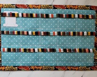 Floss Bobbin Holder for Cross Stitch Bobbins, Holds 15 Bobbins,  Thread Keeper, Floss Sheet, Bobbin Sheet for Embroidery, Thread Organizer