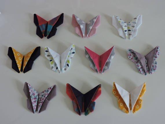 Papillon En Pliage Origami Sur Pince Crocodile De 45mm Etsy