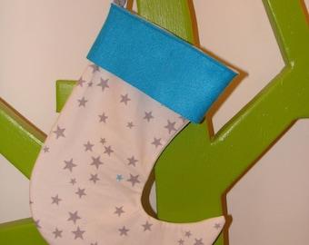 the Blue Star Santa sock