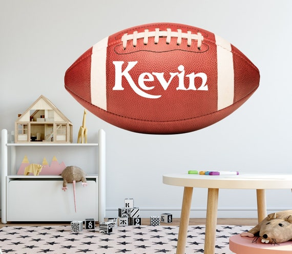 Boys Name Wall Decal Sport Stickers American Football Wall Decals Boys  Nursery Decal Kids Room Decor Playroom Wall Art S315