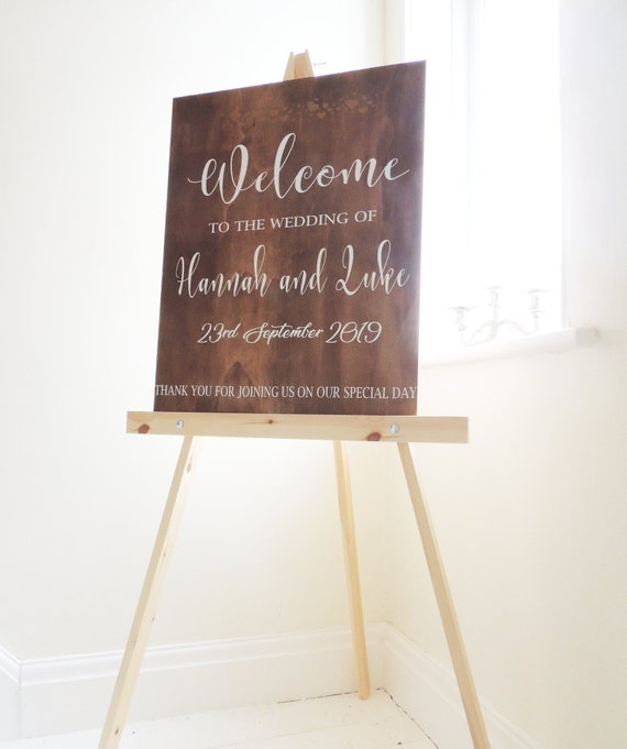 Wedding Easel Stand for Signs Stand for Wedding Pictures Wedding Sign Stand Up to 9lbs Up to 30 x 40 inches Sign Wood Floor Easel for Art