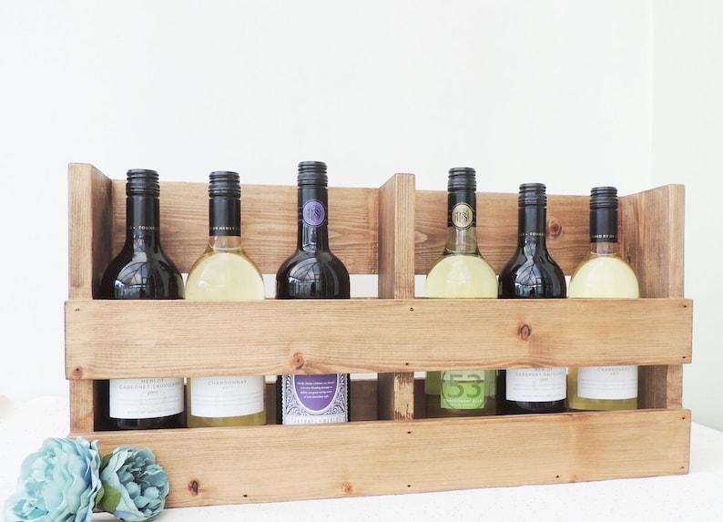 Vino Rack Portabottiglie In Legno Cucina Storage Mensola Etsy